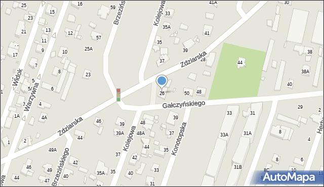 Pruszków, Zdziarska, 26, mapa Pruszków
