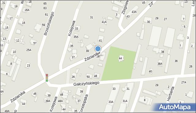 Pruszków, Zdziarska, 28, mapa Pruszków