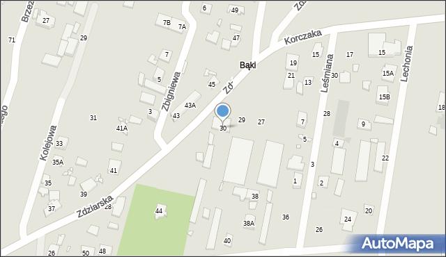 Pruszków, Zdziarska, 30, mapa Pruszków