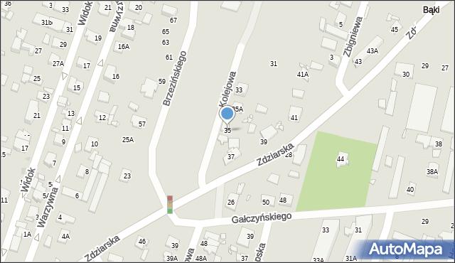 Pruszków, Zdziarska, 35, mapa Pruszków