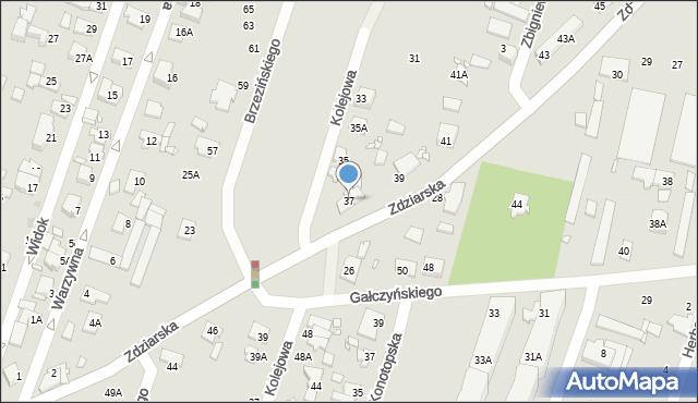 Pruszków, Zdziarska, 37, mapa Pruszków
