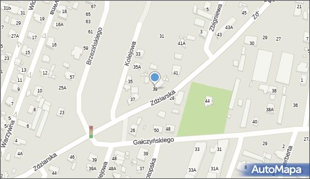 Pruszków, Zdziarska, 39, mapa Pruszków