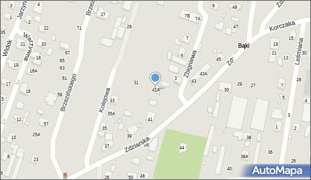 Pruszków, Zdziarska, 41A, mapa Pruszków