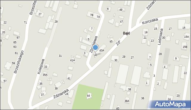 Pruszków, Zdziarska, 43, mapa Pruszków