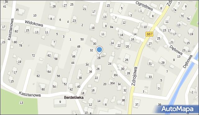 Rymanów-Zdrój, Zdrojowa, 30b, mapa Rymanów-Zdrój