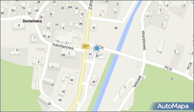 Rymanów-Zdrój, Zdrojowa, 43, mapa Rymanów-Zdrój