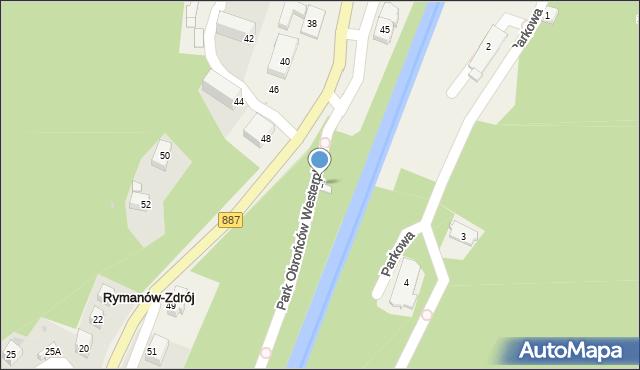 Rymanów-Zdrój, Zdrojowa, 47, mapa Rymanów-Zdrój