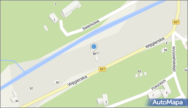 Rymanów-Zdrój, Zdrojowa, 58, mapa Rymanów-Zdrój