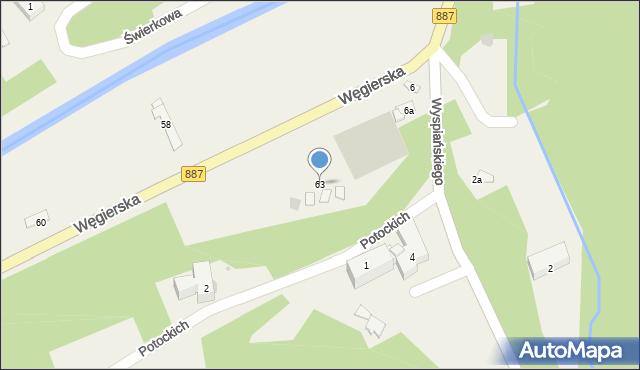 Rymanów-Zdrój, Zdrojowa, 63, mapa Rymanów-Zdrój