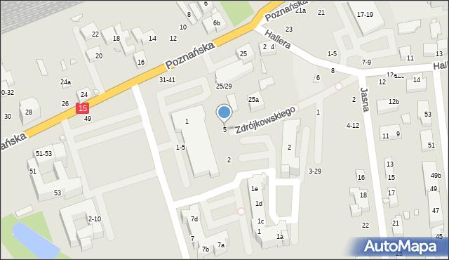 Toruń, Zdrójkowskiego Zbigniewa, 5, mapa Torunia