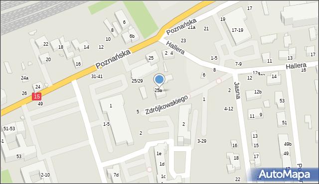 Toruń, Zdrójkowskiego Zbigniewa, 7-9, mapa Torunia