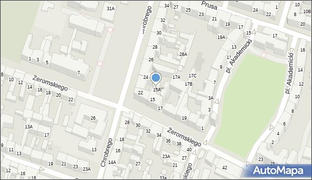 Bytom, Żeromskiego Stefana, 15A, mapa Bytomia