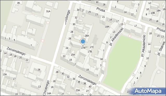 Bytom, Żeromskiego Stefana, 17A, mapa Bytomia