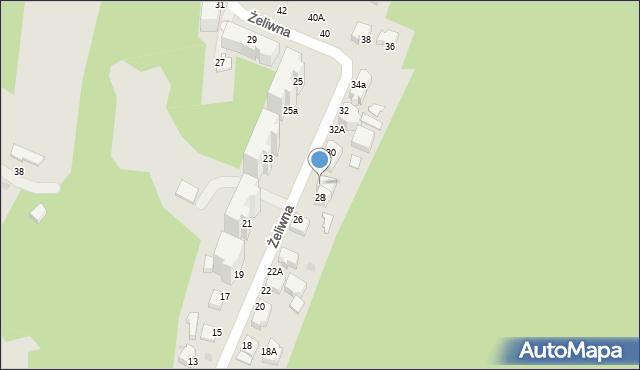 Gdynia, Żeliwna, 28a, mapa Gdyni