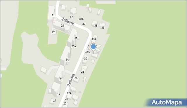 Gdynia, Żeliwna, 32A, mapa Gdyni