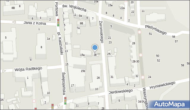 Gdynia, Żeromskiego Stefana, 18, mapa Gdyni