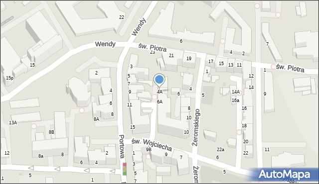 Gdynia, Żeromskiego Stefana, 4A, mapa Gdyni