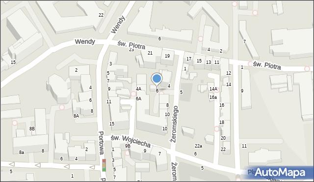 Gdynia, Żeromskiego Stefana, 6, mapa Gdyni