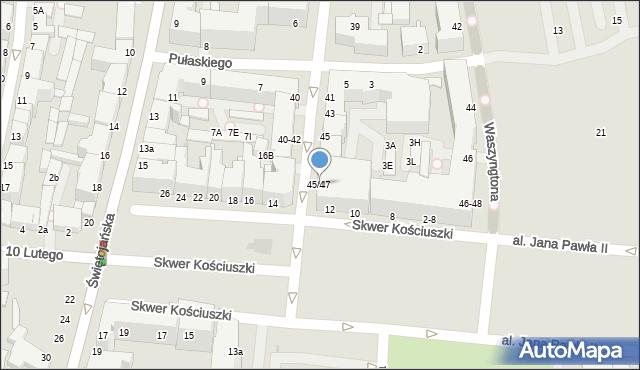 Gdynia, Żeromskiego Stefana, 45/47, mapa Gdyni
