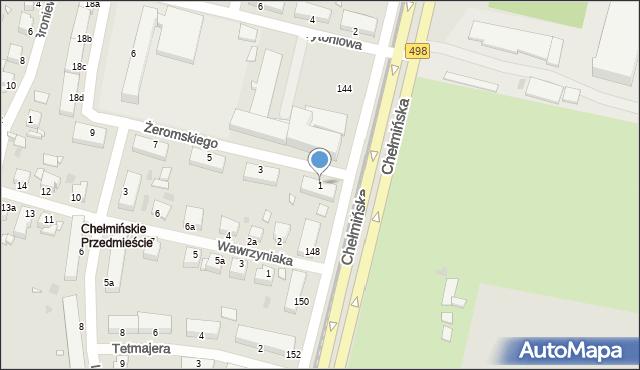 Grudziądz, Żeromskiego Stefana, 1, mapa Grudziądza