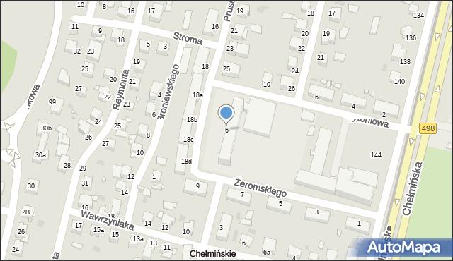 Grudziądz, Żeromskiego Stefana, 6, mapa Grudziądza