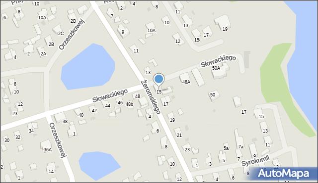 Olecko, Żeromskiego Stefana, 15, mapa Olecko