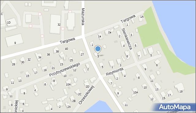 Olecko, Żeromskiego Stefana, 3, mapa Olecko