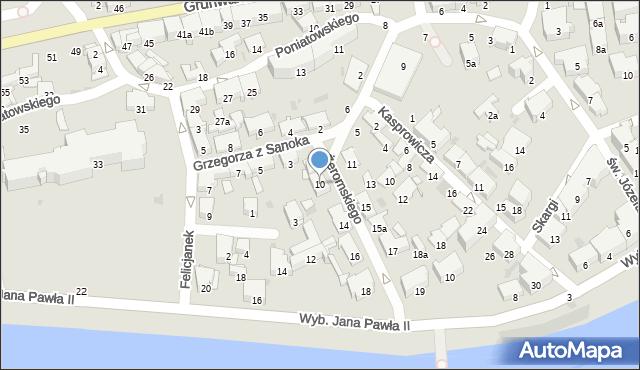 Przemyśl, Żeromskiego Stefana, 10, mapa Przemyśla