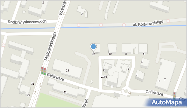 Radom, Zegara Słonecznego, 12, mapa Radomia