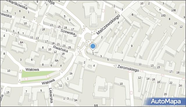 Radom, Żeromskiego Stefana, 1, mapa Radomia
