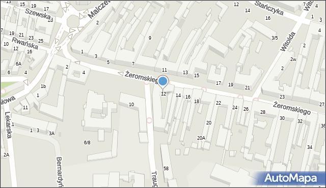 Radom, Żeromskiego Stefana, 12, mapa Radomia