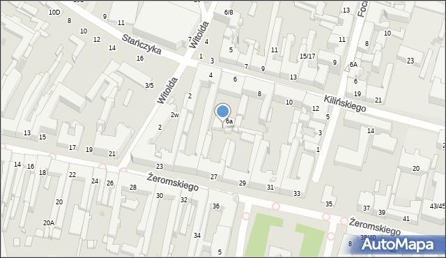 Radom, Żeromskiego Stefana, 27A, mapa Radomia