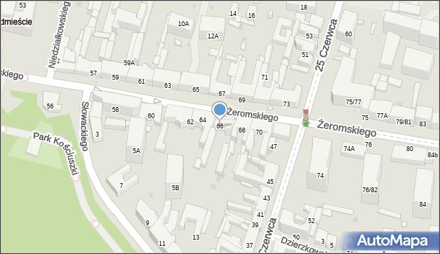 Radom, Żeromskiego Stefana, 66, mapa Radomia