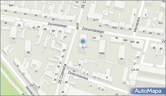 Radom, Żeromskiego Stefana, 74, mapa Radomia