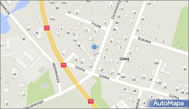 Rudnik nad Sanem, Żeromskiego Stefana, 1, mapa Rudnik nad Sanem
