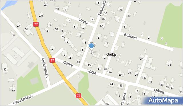 Rudnik nad Sanem, Żeromskiego Stefana, 2, mapa Rudnik nad Sanem