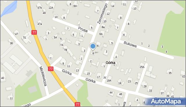 Rudnik nad Sanem, Żeromskiego Stefana, 4, mapa Rudnik nad Sanem