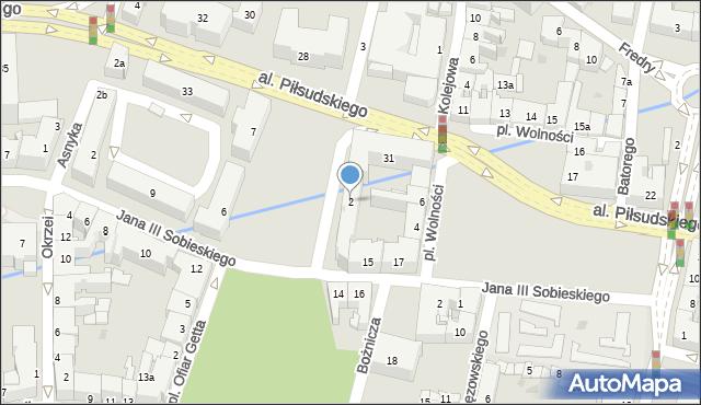 Rzeszów, Żeromskiego Stefana, 2, mapa Rzeszów