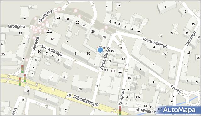 Rzeszów, Żeromskiego Stefana, 3, mapa Rzeszów