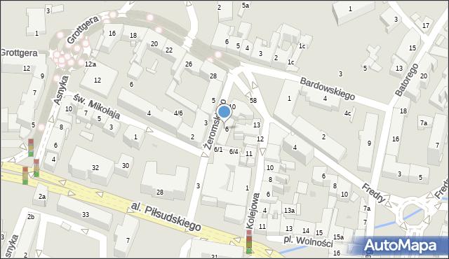 Rzeszów, Żeromskiego Stefana, 8, mapa Rzeszów