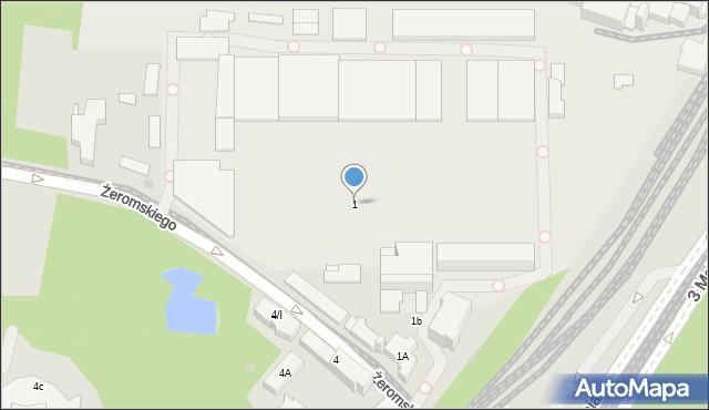 Sosnowiec, Żeromskiego Stefana, 1, mapa Sosnowca