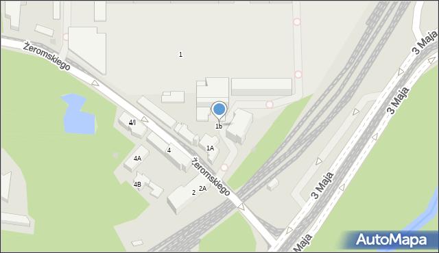 Sosnowiec, Żeromskiego Stefana, 1b, mapa Sosnowca