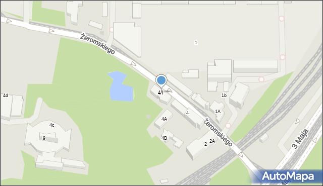 Sosnowiec, Żeromskiego Stefana, 4/I, mapa Sosnowca