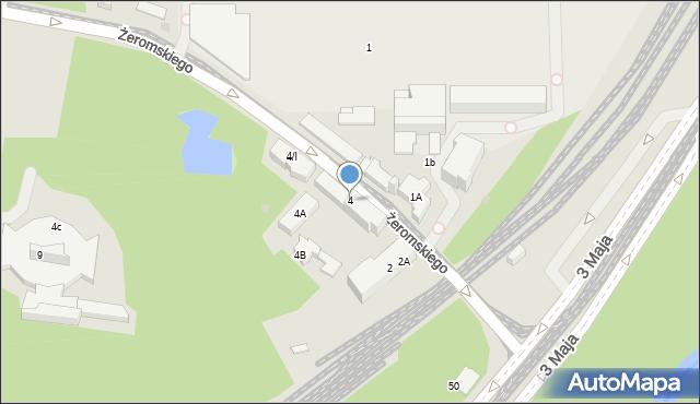 Sosnowiec, Żeromskiego Stefana, 4, mapa Sosnowca