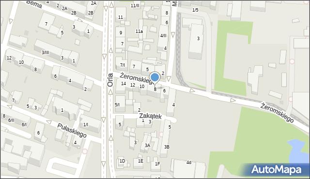 Sosnowiec, Żeromskiego Stefana, 8, mapa Sosnowca