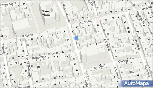 Toruń, Żeglarska, 20, mapa Torunia