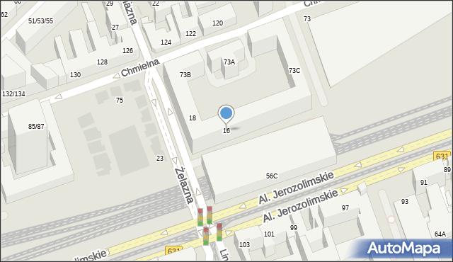 Warszawa, Żelazna, 16, mapa Warszawy