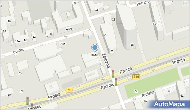 Warszawa, Żelazna, 51/53, mapa Warszawy