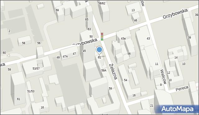 Warszawa, Żelazna, 61, mapa Warszawy