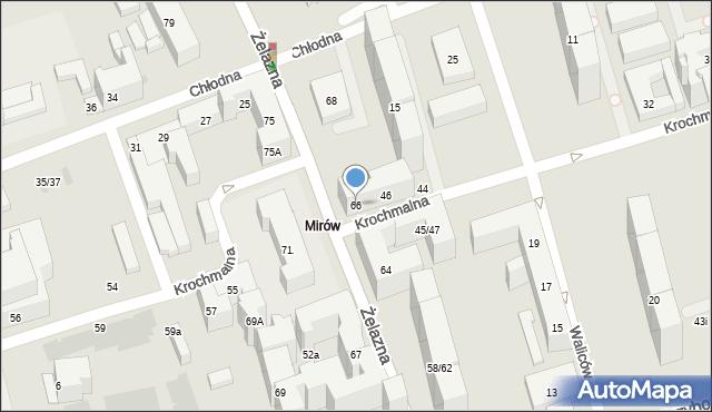 Warszawa, Żelazna, 66, mapa Warszawy